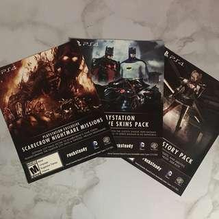 3 batman arkham knight play station exclusives (DLC)