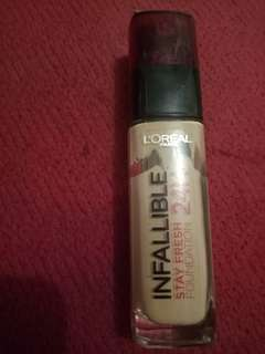 LOREAL infallible Stay Fresh 24 hr shade 200 Golden Sand