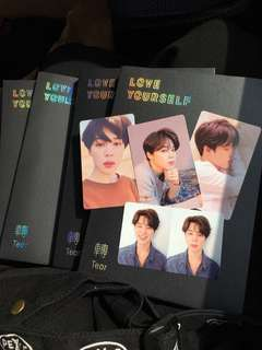 BTS Love Yourself Tear albums with Jimin photocard