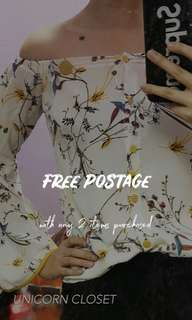 FREE POSTAGE // 2 Items & above