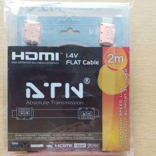 HDMI 線 1.4v flat cable 2m