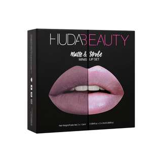 HUDA BEAUTY - MATTE & STROBE MINI LIP SET – COOL PINKS
