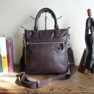 Coach Crossbody Work Bag - Cacao Brown Leather- Unisex