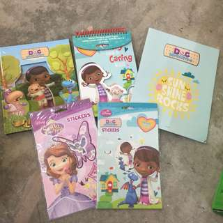 stickers and activities books