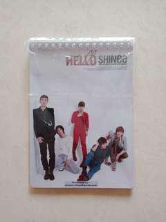 SHINee UNOFFICIAL NOTEBOOK AND FAN