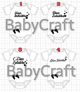 🚚 Design Customise and Personalise work for Baby romper and Onesie