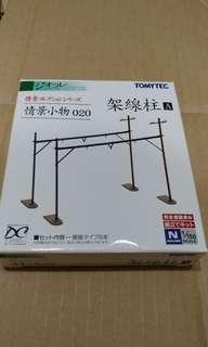 全新現貨 Tomytec 020 架電柱A 火車鐵道模型 情景小物 N Gauge Scale (not Tomix Kato)