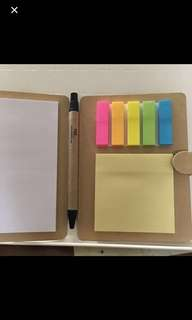 Memo pad stickers Notepad pen