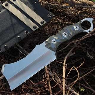 Camping High Hardness Straight Knife CHEF'S KNIFE 两用高硬度直刀厨师刀菜刀#498