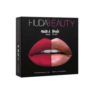HUDA BEAUTY - MATTE & STROBE MINI LIP SET – RED EDITION