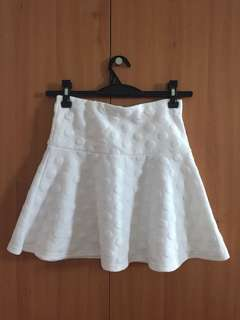 H&M White Skirt with Circle Designs