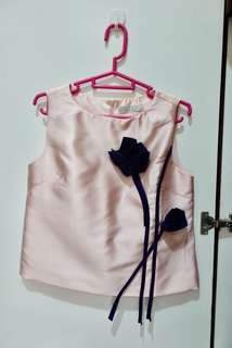 Silk pink top