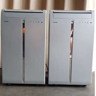 2 SHARP PORTABLE AIR CONDITIONER CV-P09GRV FOR SALE