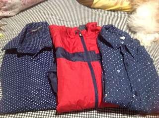 jacket and polo shirt