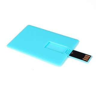 Enfain@ 10pcs 8GB Flip Credit Card Style USB 2.0 Flash Drive Memory Stick Pendrive (Sky blue- 8gb)  --828