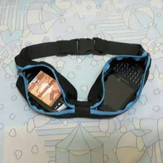 Tas Pinggang Flexible (Bahan tas flexible, bisa muat banyak barang) - Biru
