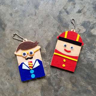 🚚 DIY Character Wooden Keychain