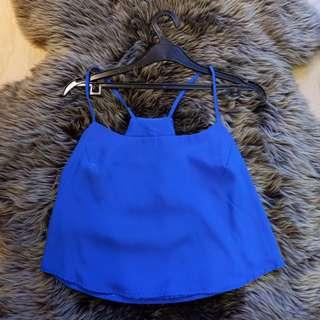 Blue camisole crop top