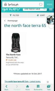 The north face terra 65 black