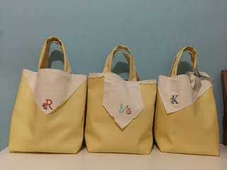 Handmade PU Bag yellow