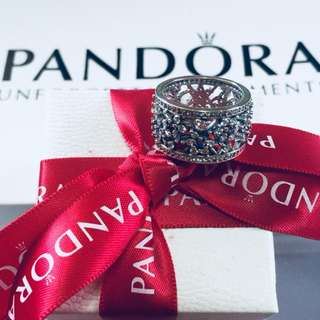 Pandora Spring Floral Ring with Zirconia Stone 92.5 Sterling Silver (Available Sizes 5-9) 0