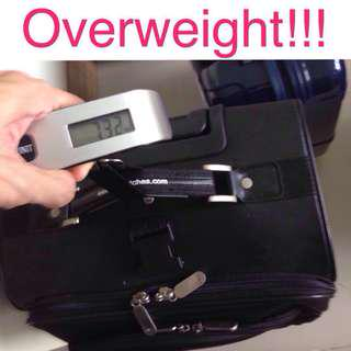 Budget Traveller's Helper - Digital Hanging Luggage Scale for Quick Carry-on Baggage Weight Check
