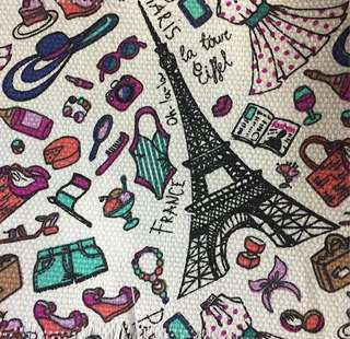 Kain Kanvas Rugs Motif Eiffel Tower
