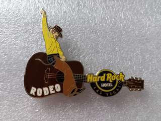 Hard Rock Cafe Pins ~ LAS VEGAS HOTEL HOT 2011 RODEO EVENT GUITAR PIN!