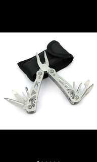 Stainless steel folding portable tool plier