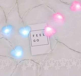 LED Heart Shape Decorative Battery Lights