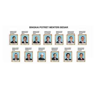 Bingkai Potret Menteri Besar