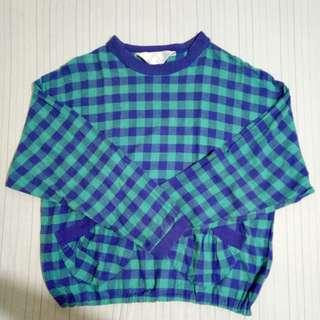 Checkered print Sweater