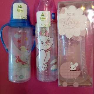 全新。$118三個。西班牙Suavinex,迪士尼disney奶樽奶瓶。超可愛星星蓋。少有。
