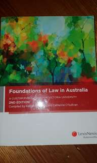 Foundations of Law in Australia, 2nd Edition.