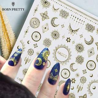 Ultrathin Gold coloured Nail Stickers