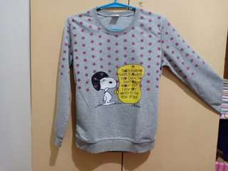 Gray Snoopy Sweatshirt