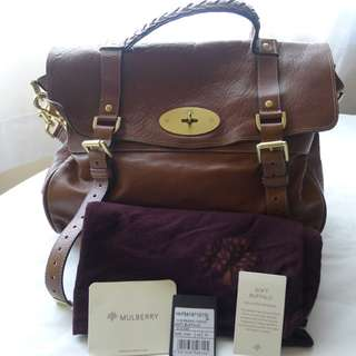 Mulberry OVERSIZED Alexa in Oak - Buffalo Leather