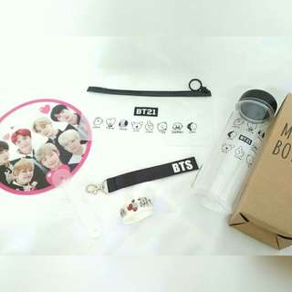 Bts got7 wannaone twice bottle phone strap pencil case masking tape
