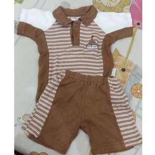 Preloved Baju Bayi Laki laki 1 set 0-3 bulan