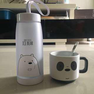 🚚 We Bare Bears Bottle and Mug