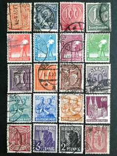 German vintage stamps#2