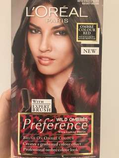 Ombre red hair colour dye