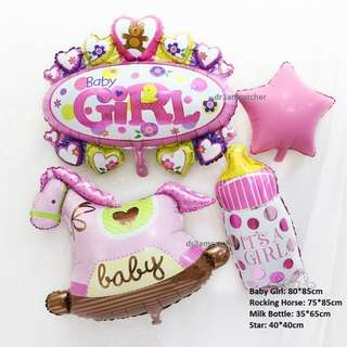 Huge Full Month Rocking Horse balloon set for girls and boys