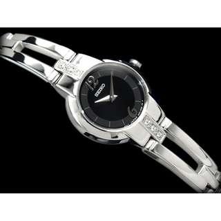 Seiko Ladies SUJG43 Jam Tangan Wanita Black Silver Original