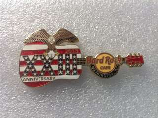 Hard Rock Cafe Pins - WASHINGTON DC HOT 23RD ANNIVERSARY GUITAR PIN!