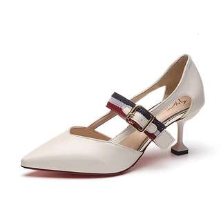 Highheels White + Gesper