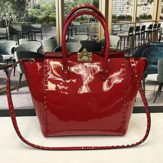 Valentino Patent Handbag