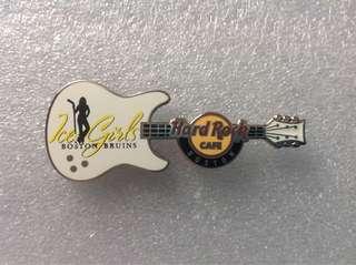 Hard Rock Cafe Pins - BOSTON HOT 2012 BOSTON BRUINS ICE GIRL GUITAR PIN!
