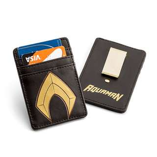 DC Justice League Aquaman Card Wallet with Money Clip