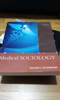 🚚 Medical Sociology textbook for NUS